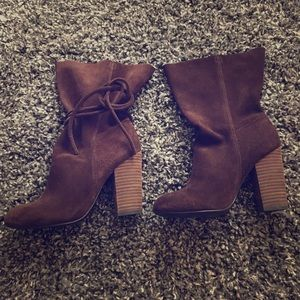 Ecote Chocolate Suede Boots